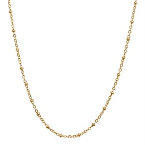 """Picture of Gold Faceted Bead Chain - 32"""""""