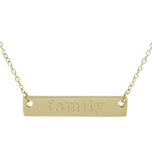 """Picture of Gold 'Family' Bar Necklace - 16"""""""