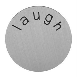 Picture of 'Laugh' Medium Silver Coin