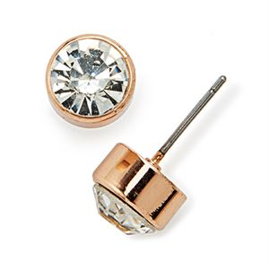 Picture of Victoria Stud Rose Gold Earrings
